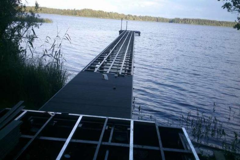 Монтаж палубной доски
