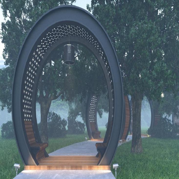 Терраса в парке